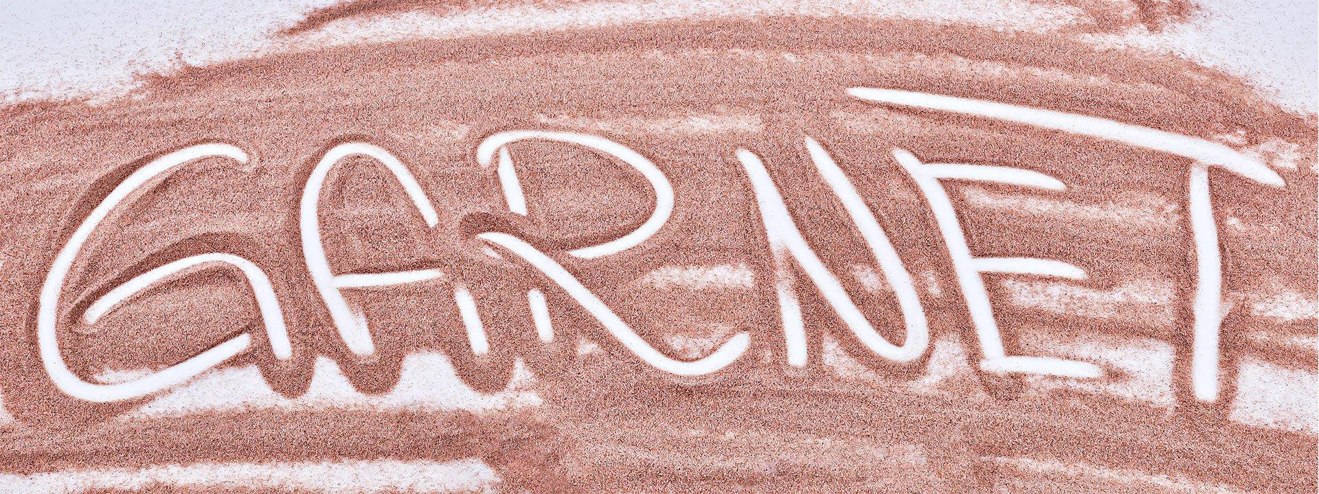 pink garnet abrasive